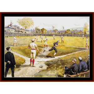 baseball - american history cross stitch pattern by cross stitch collectibles