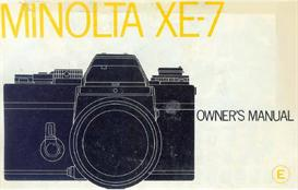 minolta xe-7 instruction manual