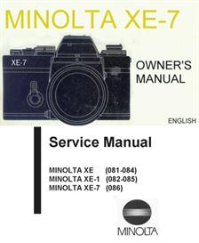 minolta xe-7 instruction and repair manuals