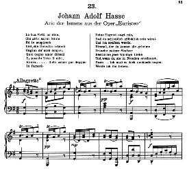 La tua virtù mi dice. J. A. Hasse. Alte Meister des Bel Canto, Ed. Peters (PD) | eBooks | Sheet Music