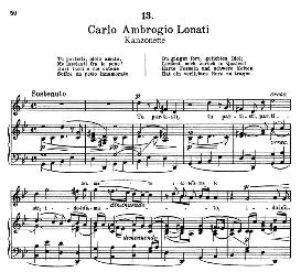 Tu partisti, idolo amato.  C.A.Lonati. Alte Meister des Bel Canto, Ed. Peters (PD) | eBooks | Sheet Music