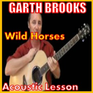 learn to play wild horses by garth brooks