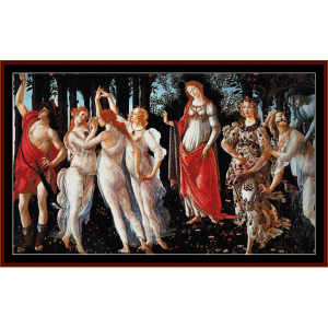 primavera - botticelli cross stitch pattern by cross stitch collectibles