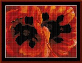 oriental poppies - o'keeffe cross stitch pattern by cross stitch collectibles