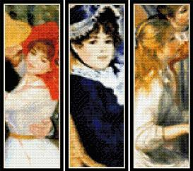 renoir bookmark collection cross stitch patterns by cross stitch collectibles