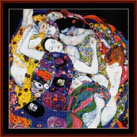 the virgin - klimt cross stitch pattern by cross stitch collectibles