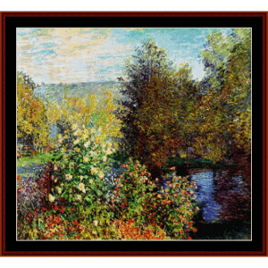garden at montgeron - monet cross stitch pattern by cross stitch collectibles