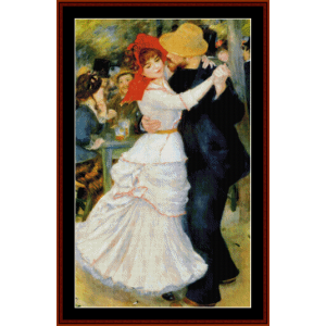 dance at bougival - renoir cross stitch pattern by cross stitch collectibles