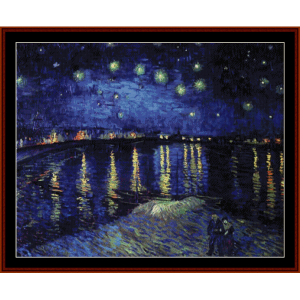 Starry Night Over the Rhone - Van Gogh cross stitch pattern by Cross Stitch Collectibles | Crafting | Cross-Stitch | Wall Hangings