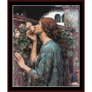 my sweet rose - waterhouse cross stitch pattern by cross stitch collectibles