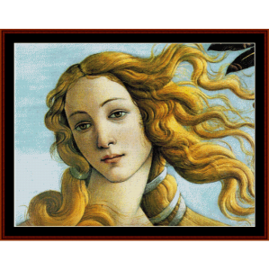 la naissance de venus - botticelli cross stitch pattern by cross stitch collectibles