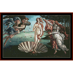 birth of venus - botticelli cross stitch pattern by cross stitch collectibles