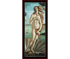 birth of venus - center - botticelli cross stitch pattern by cross stitch collectibles