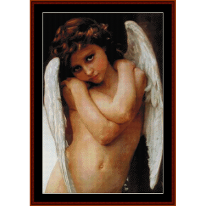 cupidon - bouguereau cross stitch pattern by cross stitch collectibles