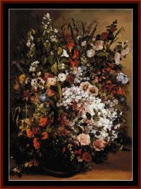 vase of flowers - courbet cross stitch pattern by cross stitch collectibles