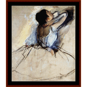 the dancer - degas cross stitch pattern by cross stitch collectibles