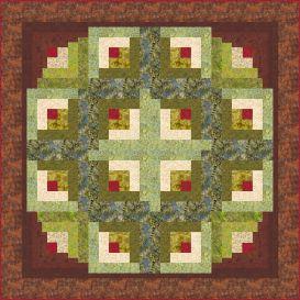 circle of life log cabin quilt pattern