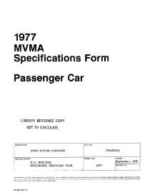 1977 ford granada mvma