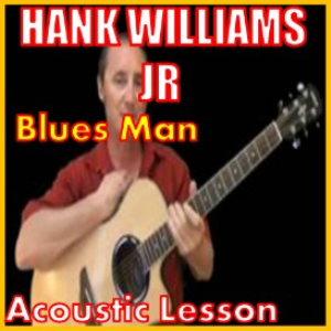 learn to play blues man by hank williams jr