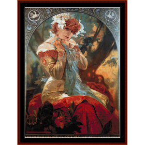 Lefevre Utile 1903 - Mucha cross stitch pattern by Cross Stitch Collectibles | Crafting | Cross-Stitch | Wall Hangings
