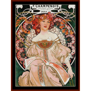 F. Champenois 1898 - Mucha cross stitch pattern by Cross Stitch Collectibles | Crafting | Cross-Stitch | Wall Hangings