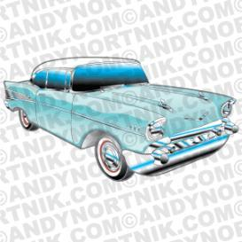 car clip art 1957 chevy bel air