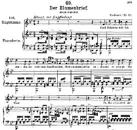 Der Blumenbrief D.622, Medium Voice in B Flat Major, F. Schubert, C.F. Peters | eBooks | Sheet Music