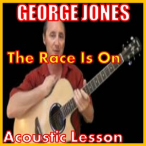 learn to play the race is on by george jones