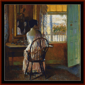 morning light - childe-hassam  cross stitch pattern by cross stitch collectibles