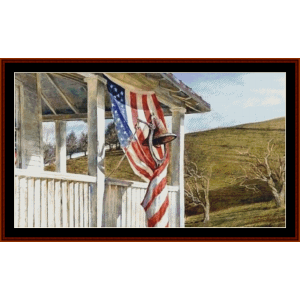 election day - americana  cross stitch pattern by cross stitch collectibles