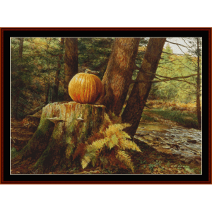 Pumpkin Pines - Americana  cross stitch pattern by Cross Stitch Collectibles | Crafting | Cross-Stitch | Other