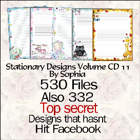 printable stationary designs vol 11