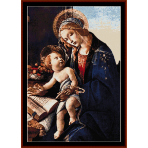madonna and child - botticelli cross stitch pattern by cross stitch collectibles