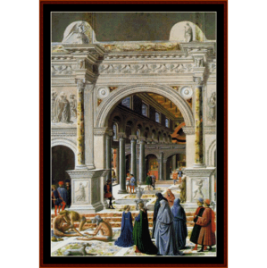 Presentation of the Virgin - Correggio cross stitch pattern by Cross Stitch Collectibles | Crafting | Cross-Stitch | Religious