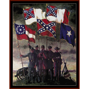 flags of the confederacy - civil war cross stitch pattern by cross stitch collectibles