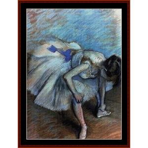 Seated Dancer - Degas cross stitch pattern by Cross Stitch Collectibles | Crafting | Cross-Stitch | Wall Hangings