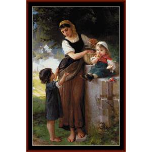 may i have one too - emile munier cross stitch pattern by cross stitch collectibles