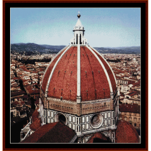 dome of the cathedral - brunelleschi cross stitch pattern by cross stitch collectibles