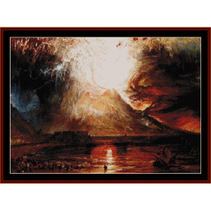 Eruption of Vesuvius - Turner cross stitch pattern by Cross Stitch Collectibles | Crafting | Cross-Stitch | Wall Hangings