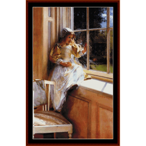 sunshine - alma tadema cross stitch pattern by cross stitch collectibles