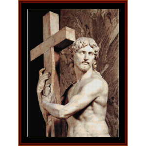 christ carrying the cross - michelangelo cross stitch pattern by cross stitch collectibles