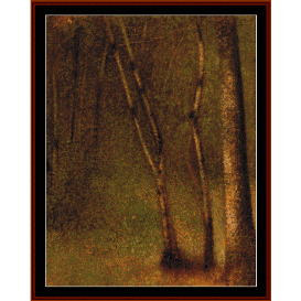 forest at pontaubert - seurat  cross stitch pattern by cross stitch collectibles