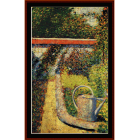 watering can - seurat  cross stitch pattern by cross stitch collectibles