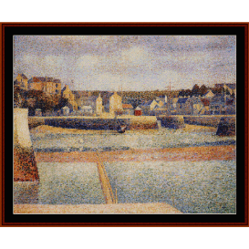 port en bessin, low tide - seurat  cross stitch pattern by cross stitch collectibles