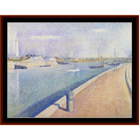 petit fort philippe - seurat  cross stitch pattern by cross stitch collectibles