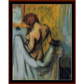 woman with a towel - degas  cross stitch pattern by cross stitch collectibles