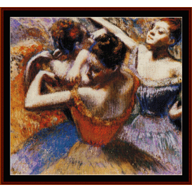 dancers, 1899 - degas  cross stitch pattern by cross stitch collectibles