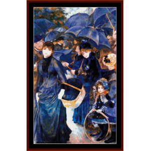 The Umbrellas - Renoir cross stitch pattern by Cross Stitch Collectibles | Crafting | Cross-Stitch | Wall Hangings