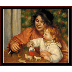 Girl with Toys - Renoir cross stitch pattern by Cross Stitch Collectibles | Crafting | Cross-Stitch | Wall Hangings