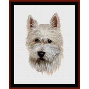 westie - robert j. may cross stitch pattern by cross stitch collectibles